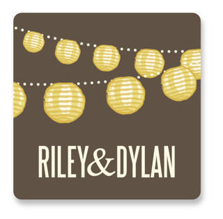 Paper Lanterns Wedding Favor Stickers