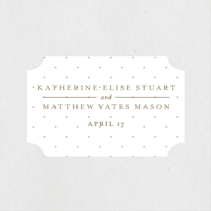 """""""A Glamorous Affair"""" - Preppy Wedding Favor Stickers in Gold by Kristen Smith."""