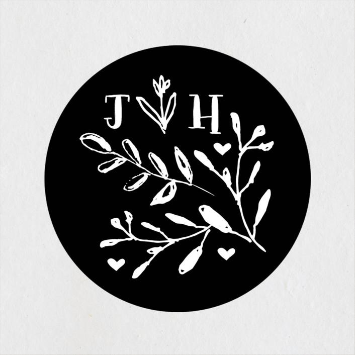 """Charleston"" - Wedding Favor Stickers in Tuxedo by Susan Brown."