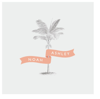 Palm Wedding Favor Stickers