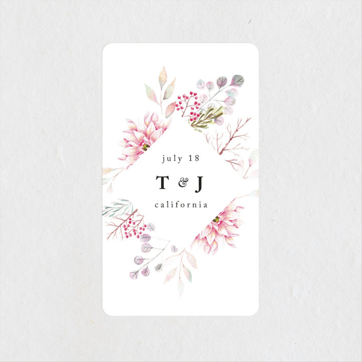 """Ascent"" - Wedding Favor Stickers in Bloom by Poi Velasco."