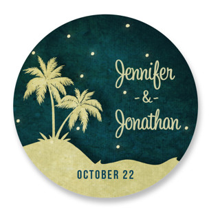 Love Island Wedding Favor Stickers