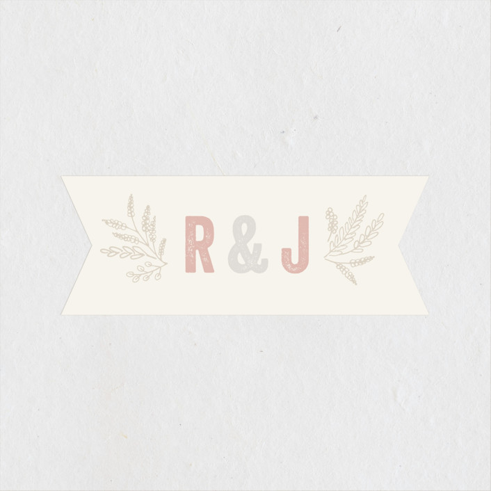 """Rustic Charm"" - Rustic Wedding Favor Stickers in Petal by Hooray Creative."