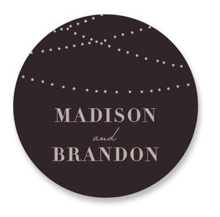 Lavish Wedding Favor Stickers