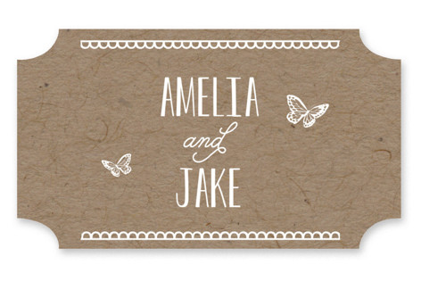 Kraft Woodland Tree Wedding Favor Stickers