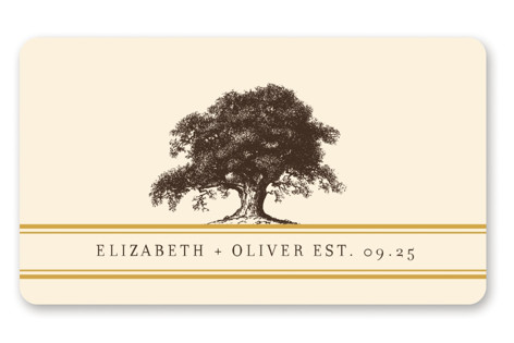 Oak Tree Wedding Favor Stickers