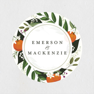 Orange Blossoms Wedding Favor Stickers