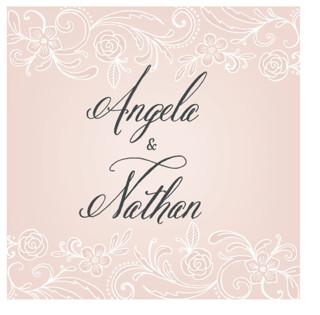 Elegant Lace Wedding Favor Stickers