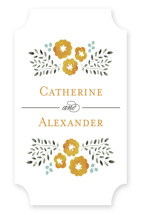 Watercolor Wildflowers Wedding Favor Stickers