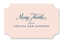 This is a pink wedding favor label by Kimberly FitzSimons called Chic Gala with standard printing on uncoated sticker paper in sticker.