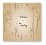 Fall Carving Wedding Favor Stickers