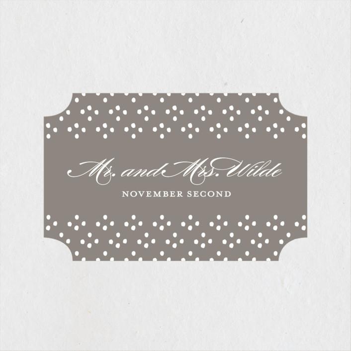 """Field"" - Wedding Favor Stickers in Ash by Toast & Laurel."