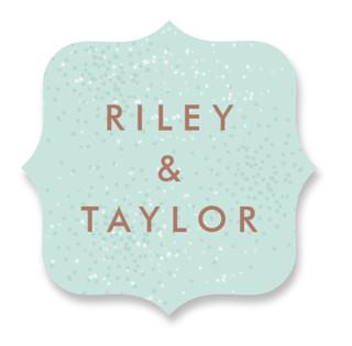 Awash Wedding Favor Stickers