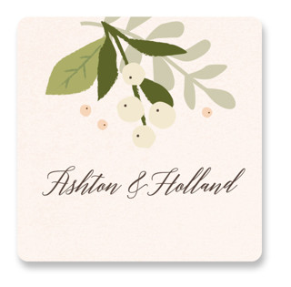Ribbonly Wedding Favor Stickers