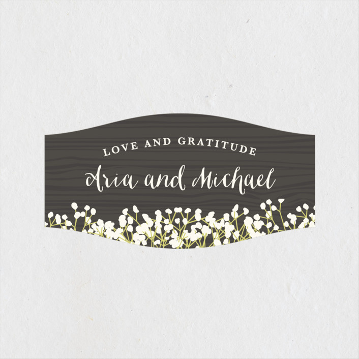 """""""In Nature"""" - Rustic Wedding Favor Stickers in Beachwood by Leah Bisch."""