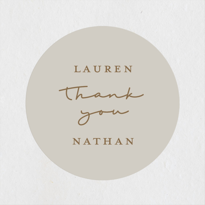 """""""Burnished"""" - Bohemian Wedding Favor Stickers in Smoky by Susan Brown."""