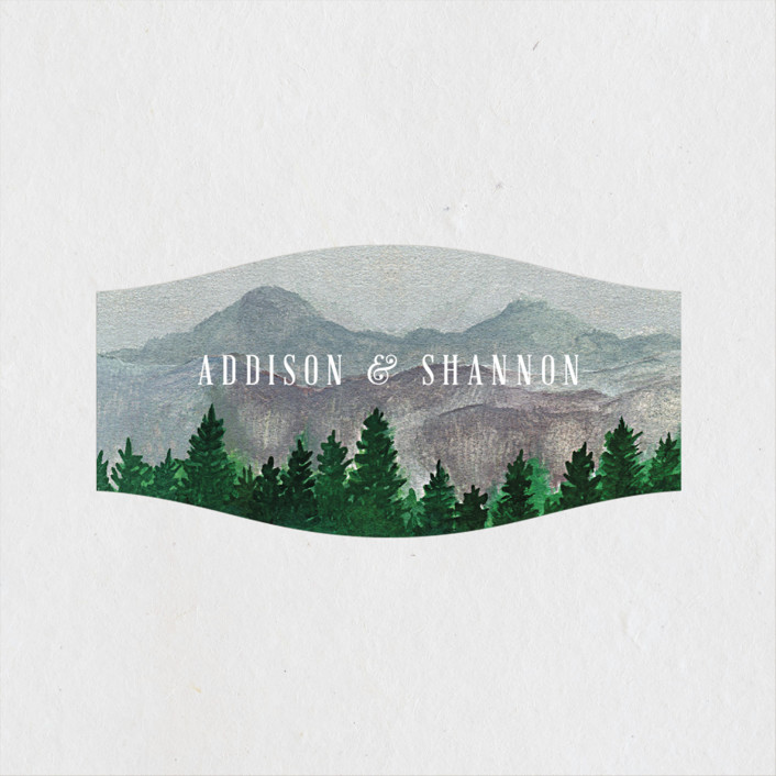 """""""Adventure Awaits"""" - Rustic Wedding Favor Stickers in Smoke by Elly."""