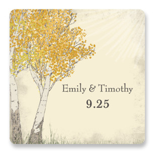 Fall Tranquility Wedding Favor Stickers
