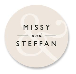 Ampersand Wedding Favor Stickers