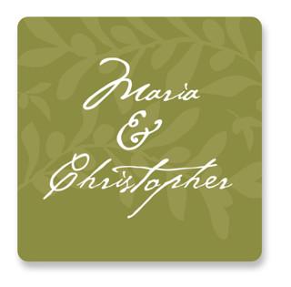 Italiano Wedding Favor Stickers