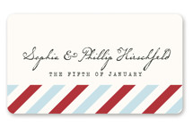 Airmail Wedding Favor Stickers