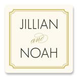 Modern Classic Wedding Favor Stickers