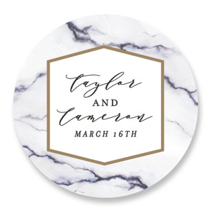 Marbled Wedding Favor Stickers