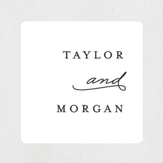 Gallant Wedding Favor Stickers