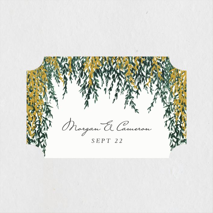 """In Love"" - Bohemian Wedding Favor Stickers in Broccoli by Elly."