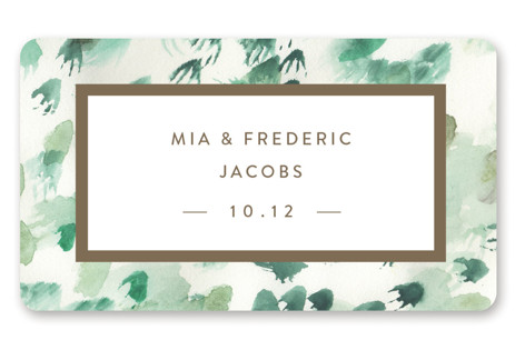 Painted Wedding Favor Stickers