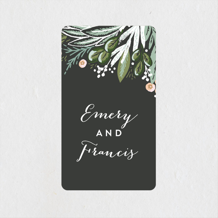 """""""Meadow Breeze"""" - Wedding Favor Stickers in Charcoal by Alethea and Ruth."""