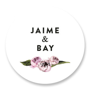 Peony Wedding Favor Stickers
