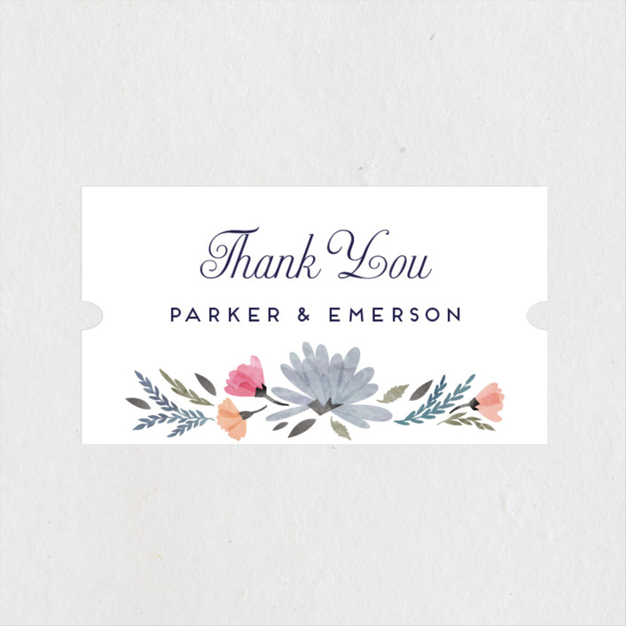"""Romantic Watercolor Flora"" - Wedding Favor Stickers in Dhalia by Petra Kern."
