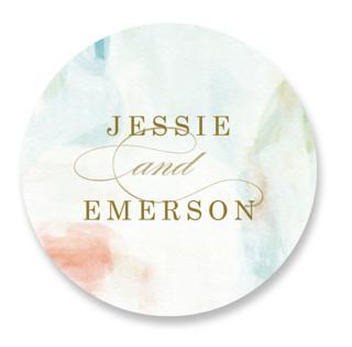 Sway Wedding Favor Stickers