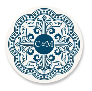 Ornamental Wedding Favor Stickers
