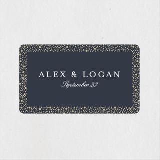 glittered Wedding Favor Stickers