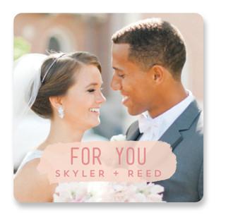 Brush Wedding Favor Stickers