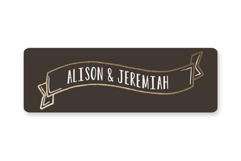 Handlettered Heart Wedding Favor Stickers