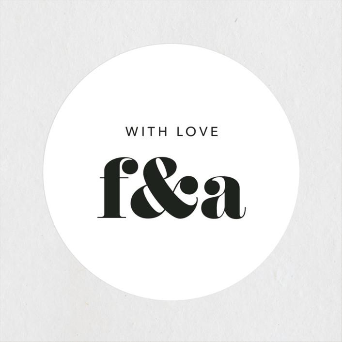 """""""Letters"""" - Wedding Favor Stickers in Silk by JoAnn Jinks."""