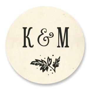 Inked Wedding Favor Stickers