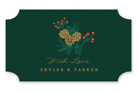 Holiday Wedding Wedding Favor Stickers