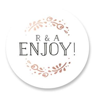 Joyful Wedding Favor Stickers
