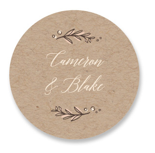 Rustic Banner Wedding Favor Stickers