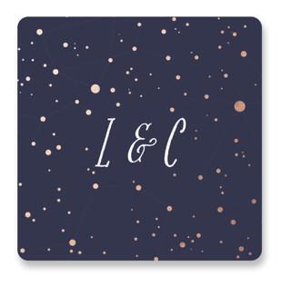 Starlight Wedding Favor Stickers