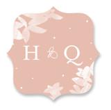 Midsummer Romance Wedding Favor Stickers