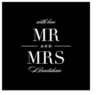 Classic Wedding Favor Stickers