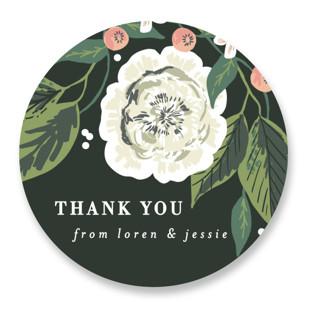 Climbing Rose Wedding Favor Stickers