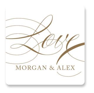 Aqueous Wedding Favor Stickers