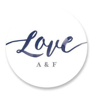 Love Wedding Favor Stickers