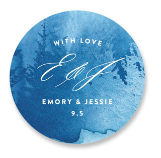 misty forest Wedding Favor Stickers